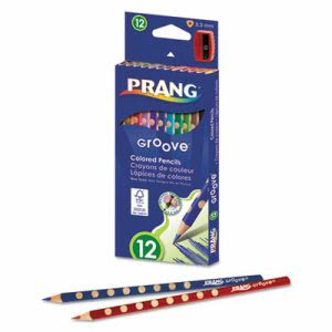 Prang Groove Colored Pencils, Assorted, 3.3 mm, 12/Pk (DIX28112)
