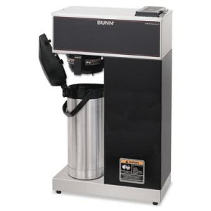 Bunn Coffee Brewer, Brews 3.8 Gallon, Stainless Steel w/Black Accent (BUNVPRAPS)
