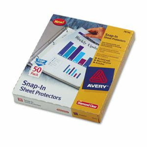 Avery Snap-In Heavyweight Sheet Protector, Letter, Clear, 50/Box (AVE78706)