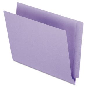 Pendaflex End Tab Folders, 2 Ply Tab, Letter, Purple,  100 per Box (PFXH110DPR)