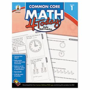 Carson-dellosa Publishing Common Core 4 Today Workbook, Math, Grade 1, 96 pages (CDP104590)