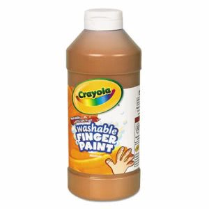 Crayola Washable Fingerpaint, Brown, 16 oz Squeeze Bottle, Each (CYO551316007)