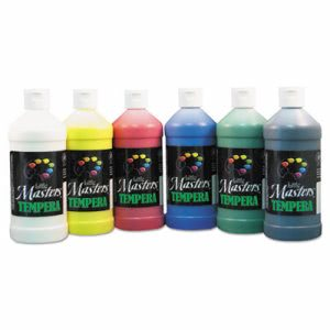 Little Masters Tempera Paint, 6 Assorted Colors, 16 oz (LIM882722)