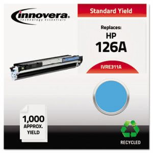 Innovera E311A Compatible Remanufactured 126A (CE311A) Toner, Cyan (IVRE311A)