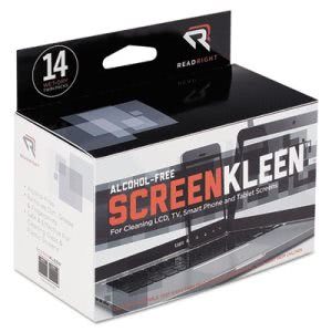 Read Right ScreenKleen Alcohol-Free Wipes, Cloth, 5 x 5, 14/Box (REARR1291)