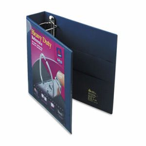 "Avery 2"" Heavy-Duty EZD Reference View Binder, Navy Blue (AVE79802)"