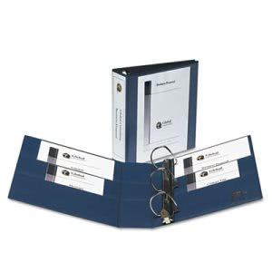 "Avery Nonstick Heavy-Duty Reference Binder, 3"" Capacity, Navy Blue (AVE79803)"