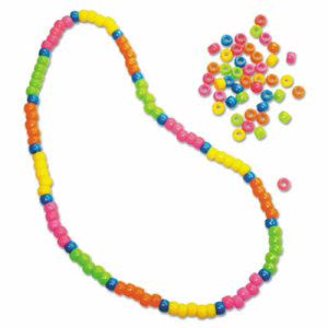 Creativity Street Pony Beads, 6mm x 9mm, Neon Colors, 1000 Beads (CKC3553)