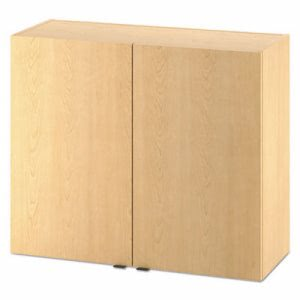 HON Hospitality 2 Door Wall Cabinet, 36w x 15dx30h, Natural Maple (HONHPHC2D36D)