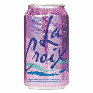 Lacroix Sparkling Water, Berry, 12oz Can, 24/Carton (LCX1272364)