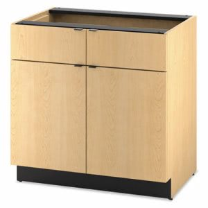 Hon Hospitality Double Base Cabinet, 2 Doors/2 Drawers, 36wx15dx30h, Natural Maple (HONHPBC2D2D36D)