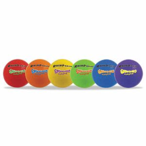 Champion Sports Super Squeeze Volleyball Set, Assorted, 6 Balls/Set (CSISQVSET)