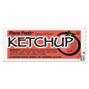 Diamond Crystal Fresh Ketchup Packets, .317oz Packet, 200 Packets (MKL71004)