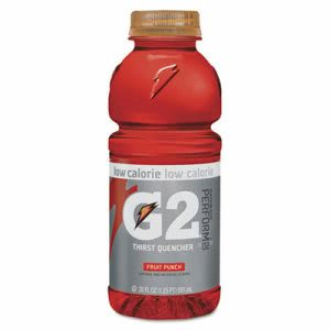 Gatorade G2 Low-Calorie Thirst Quencher, Punch, 24 Bottles (QKR04053)