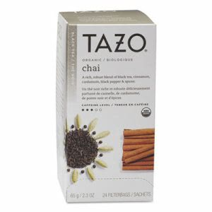 Tazo Chai Organic Black Tea, Filter Bag, 24 per Box (TZO149904)