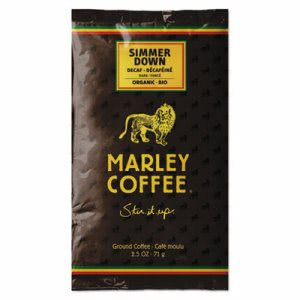 Marley Coffee Fractional Pack, Simmer Down Swiss Water Decaf, 18/Box (MLY02967)