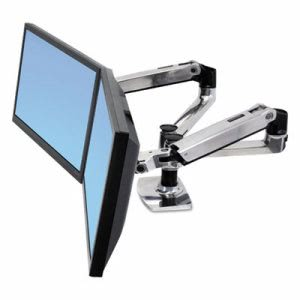 Ergotron LX Dual Side-by-Side Arm for WorkFit-D Sit-Stand Desk (ERG45245026)