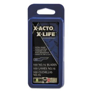 X-acto #16 Bulk Pack Blades for X-Acto Knives, 100/Box (EPIX616)