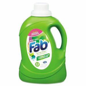 Fab 2X HE Laundry Detergent, Spring Magic, 6 Bottles (PBC 37060)