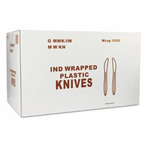 Wrapped Cutlery Knife, 1,000 Knives (GEN MWK/IW)