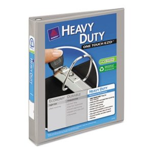 "Avery Nonstick Heavy-Duty Reference View Binder, 1"" Capacity, Gray (AVE79409)"