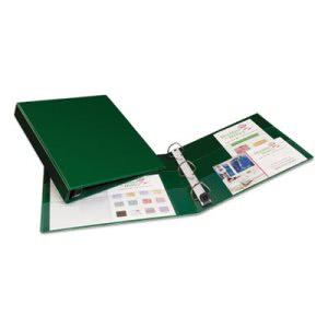 "Avery Heavy-Duty Vinyl EZD Ring Reference Binder, 1"" Capacity, Green (AVE79789)"