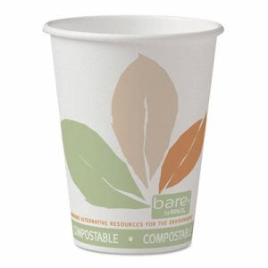 Bare 12-oz. Compostable Hot Cup, 1,000 Cups (SCC 412PLN-BB)