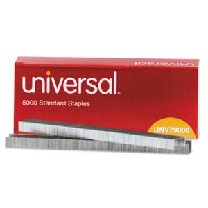 Universal Standard Chisel Point Staples, 5,000 Staples (UNV79000)