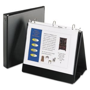 Avery Easel Presentation Binder, Vinyl, Black (AVE12880)