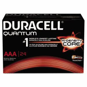 Duracell Quantum AAA Batteries w/Duralock Power Preserve, 24/Box (DURQU2400BKD)