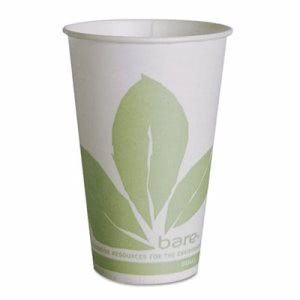 Solo Bare Eco-Forward Treated Paper Cold Cups, 12oz, 20/Ctn (SCCR12BBJD110CT)