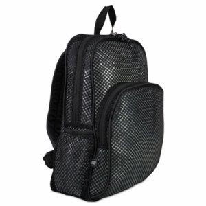 Eastsport Mesh Backpack, Polyester, Black, 1 Each (EST113960BJBLK)