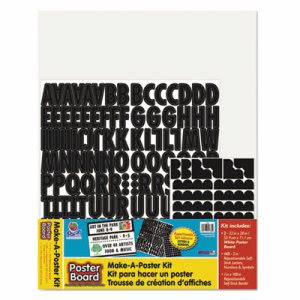 "Pacon Make-A-Poster Board Kit, 22"" x 28"", White, 143 Letters/Numbers (PAC1785)"