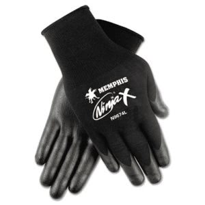 Memphis Ninja X Bi-Polymer Coated Gloves, Extra Large, Black (CRWN9674XL)