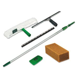 Unger Pro Window Cleaning Kit, Scrubber, Squeegee, Scraper, Sponge (UNGPWK00)