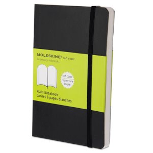 Moleskine Softcover Notebook, 3 1/2 x 5 1/2, Plain, Each (HBGMS717)