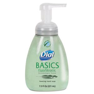 Dial Basics HypoAllergenic Foaming Lotion Soap, 8 Bottles (DIA06042CT)