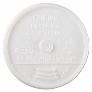 Plastic Sip-Thru Lid for 12-oz. Foam Cups, 1,000 Lids (DCC 12UL)