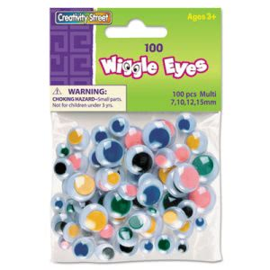 Creativity Street Wiggle Eyes Assortment, 100 Eyes (CKC344601)