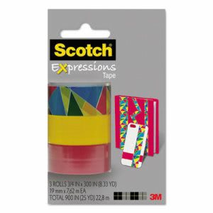 Scotch Expressions Magic Tape 3-Pack, Assorted Stained Glass (MMMC2143PK10)