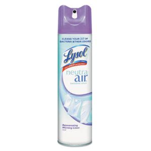 Lysol 79196 Neutra Air Sanitizing Spray, Morning Linen, 12 Cans (RAC79196)