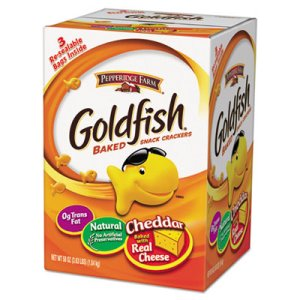 Goldfish Crackers, Cheddar, 58 oz., 3 Resealable Bags (PPF827562)