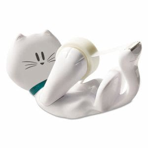 "Scotch Kitty Tape Dispenser, 1"" Core for 1/2"" and 3/4"" Tapes (MMMC39KITTY)"