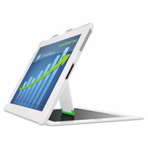 Leitz Privacy Cover w/Stand for iPad 2, 3rd Gen and 4th Gen, White (LTZ633201)