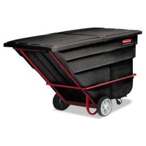 Rubbrmaid 1035 Tilt Truck, Standard Duty (Rotational Molded) Blk (RCP1035BLA)