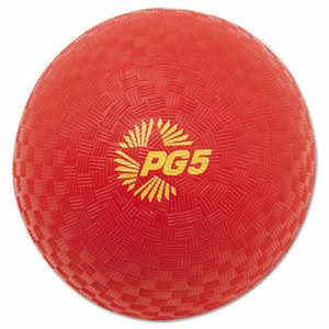 "Champion Sports Playground Ball, 5"" Diameter, Water-Resistant, Red (CSIPG5RD)"