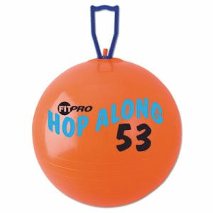 Champion Sports FitPro Hop Along Pon Pon Ball, 53cm, Red (CSIPP53)