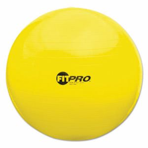 Champion Sports FitPro Ball with Stability Legs, 75cm, Yellow (CSIFP75)