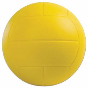 Champion Sports Coated Foam Sport Ball, Volleyball, Yellow (CSIVFC)