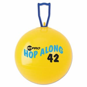 Champion Sports FitPro Hop Along Pon Pon Ball, 42cm, Yellow (CSIPP42)